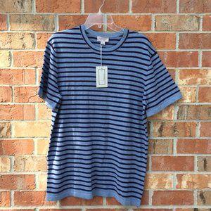Men's Blue Short Sleeve Sweater Size Large NWT